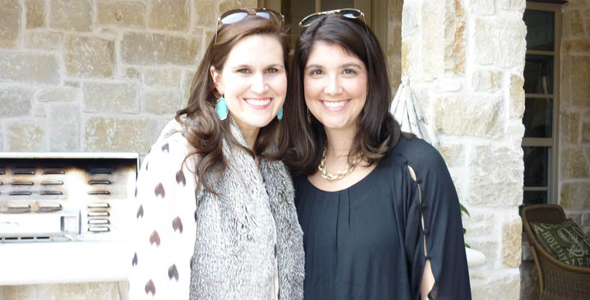 Natalie Ross and Stephani Walne at the Lake Highlands Women's League Home Tour