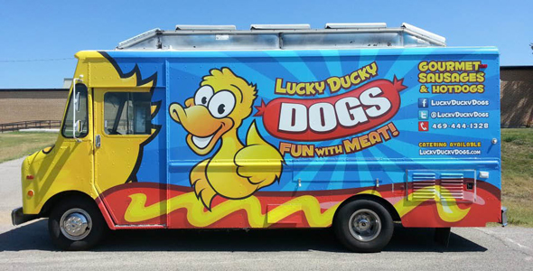 The new Lucky Ducky Dogs food truck