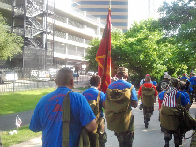 The Young Marines group treks the Katy Trail