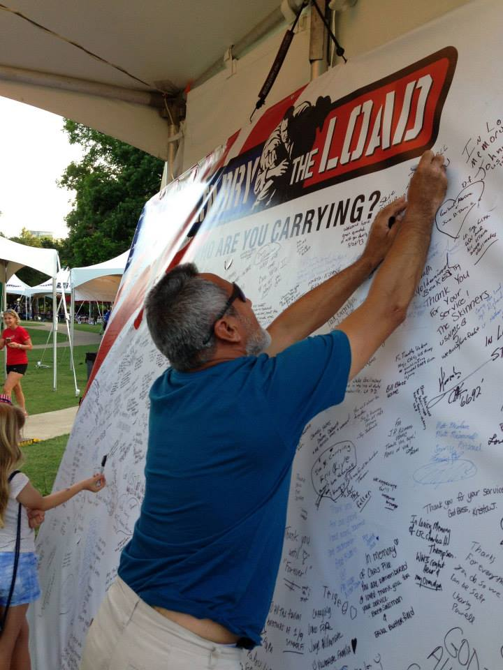 Remembrance wall at Reverchon park, courtesy Facebook/Carrytheload