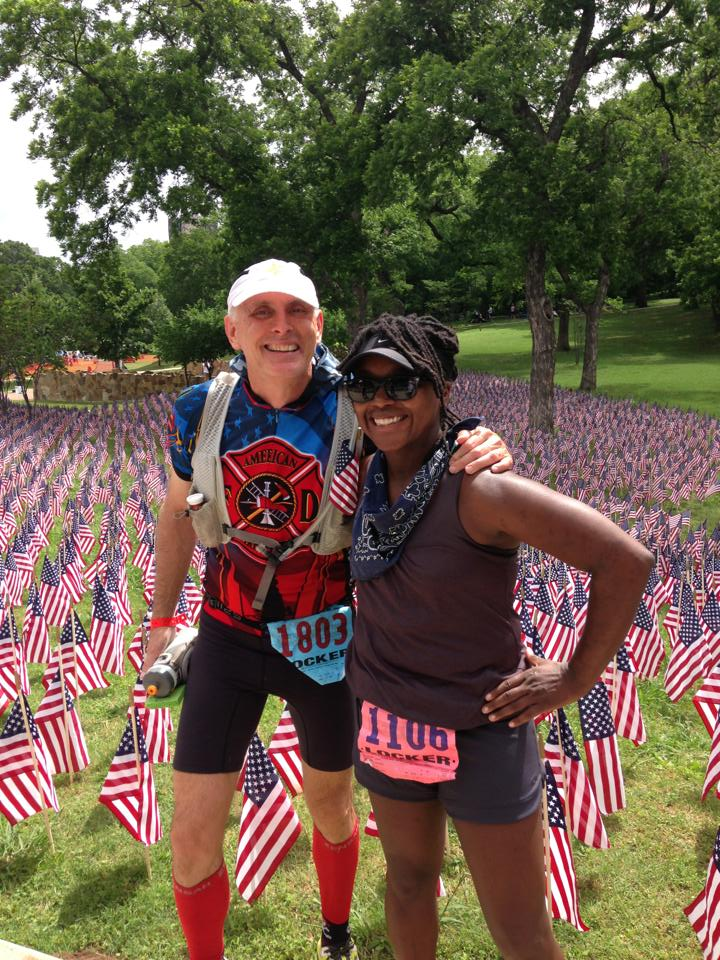 Jeff Venable and Shonta Bradford at Day 2 of Carry the Load