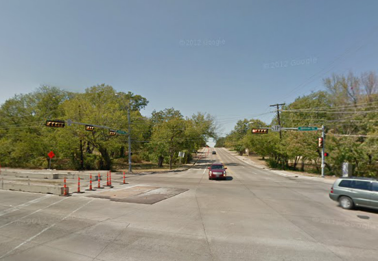 New construction will begin on the southwest side of this intersection.
