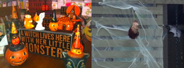 1. Halloween fun (photo of items at T. Hee Gifts in Lake Highlands. 2. Just plain disturbing.