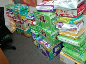 Pamper Lake Highlands needs your donated diapers to help neighbors who can't afford them.