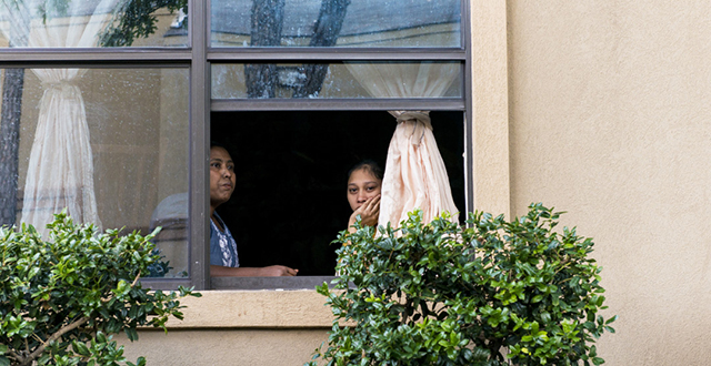Many Ivy residents, like Ramadan and Fathima Bee, had a front row seat to the Ebola-related ruckus: Photo by Danny Fulgencio