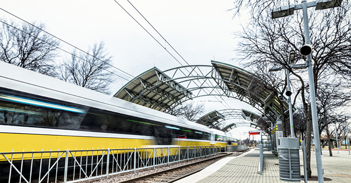 The Skillman-635 DART station is the focus of a possible new development: Photo by Danny Fulgencio