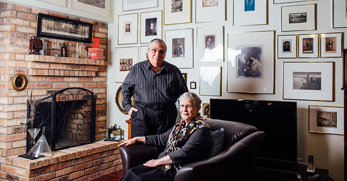 Collectors Beverly and Jack Wilgus: Photo by Scott Mitchell
