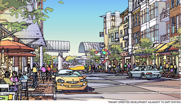 The Skillman-635 DART station is underutilized and offers an opportunity for a modern mixed-use space.