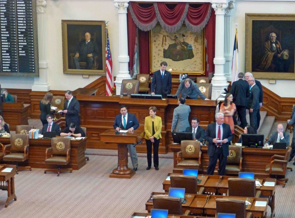 State Rep. Jason Villalba reads the official proclamation
