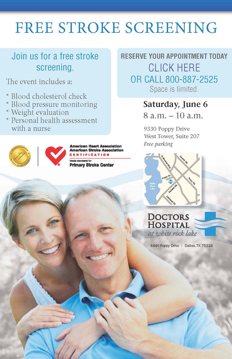 Sign up for a free stroke screening