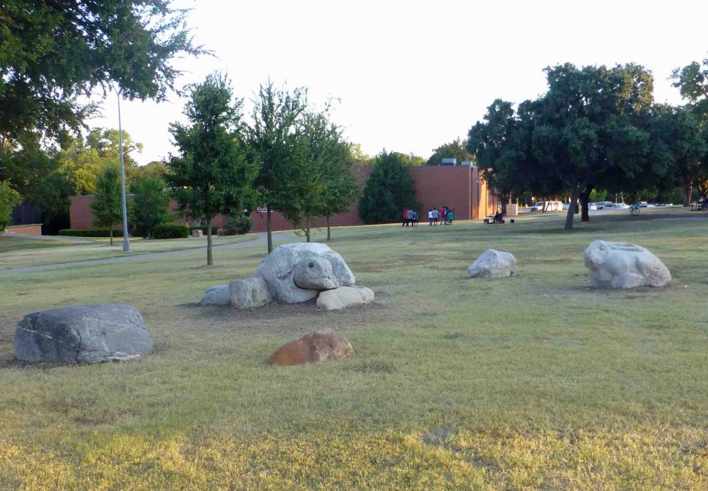 Play sculptures at the LH North Recreation Center
