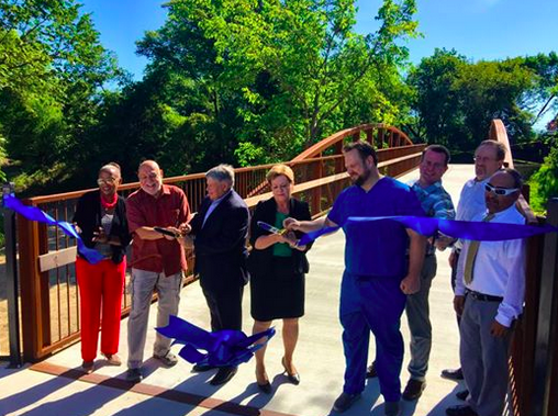 Phase III ribbon cutting ceremony : Friends of the SoPac Trail