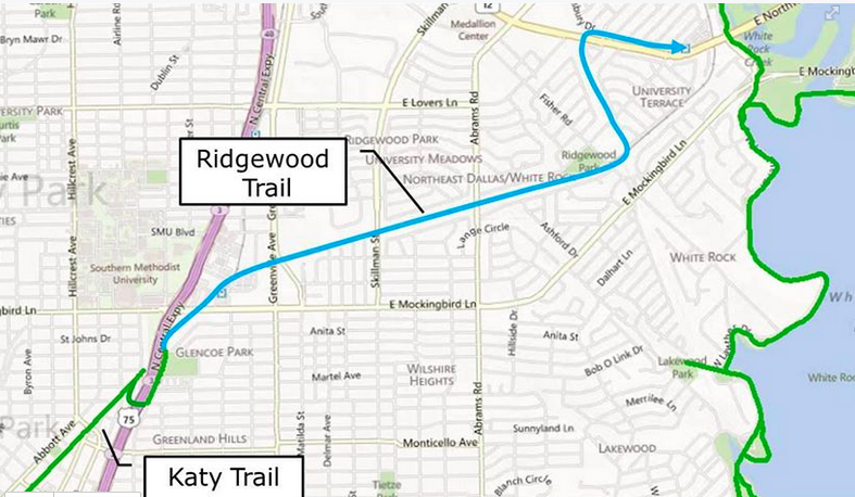 Katy Trail Dallas Map Untangling the White Rock area trail system updates: Katy Trail