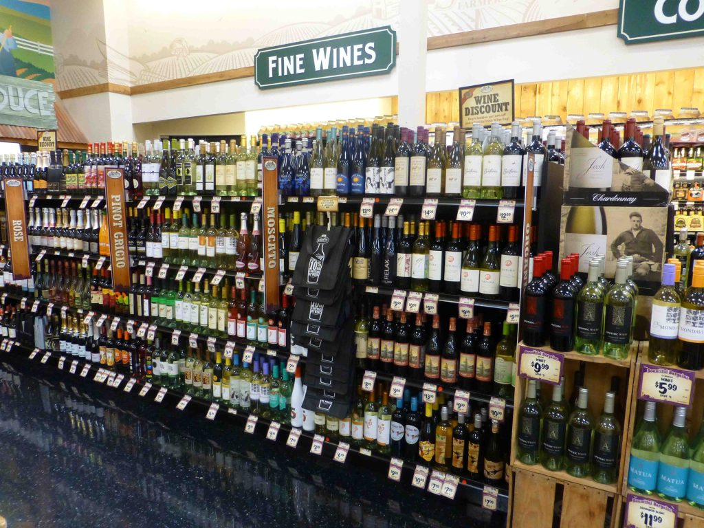 Sprouts wine section