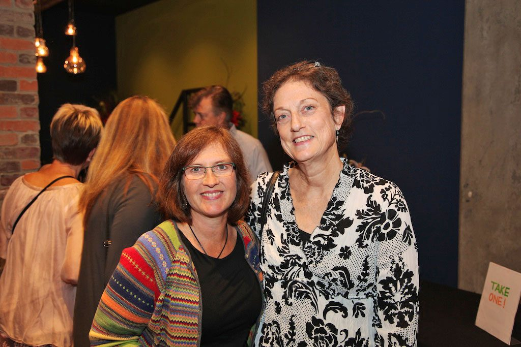 Clients Anita Siegers and Sue Garinger enjoy the party