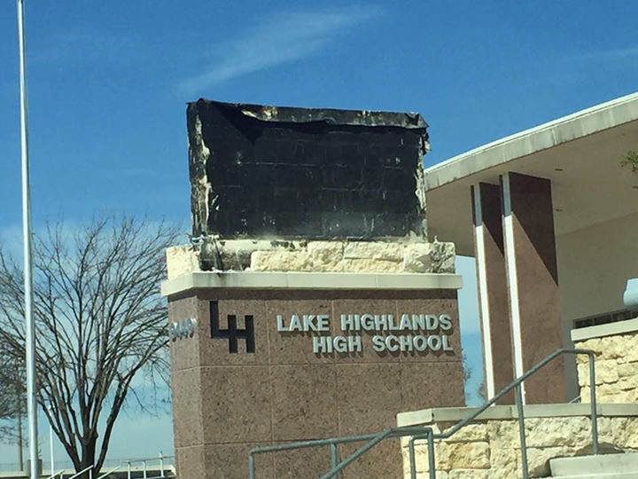 Old marquee at LHHS