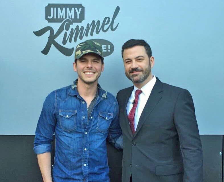 LHHS grad Granger Smith with Jimmy Kimmel