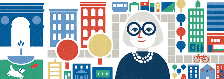 Google Doodle yesterday honored Jane Jacobs