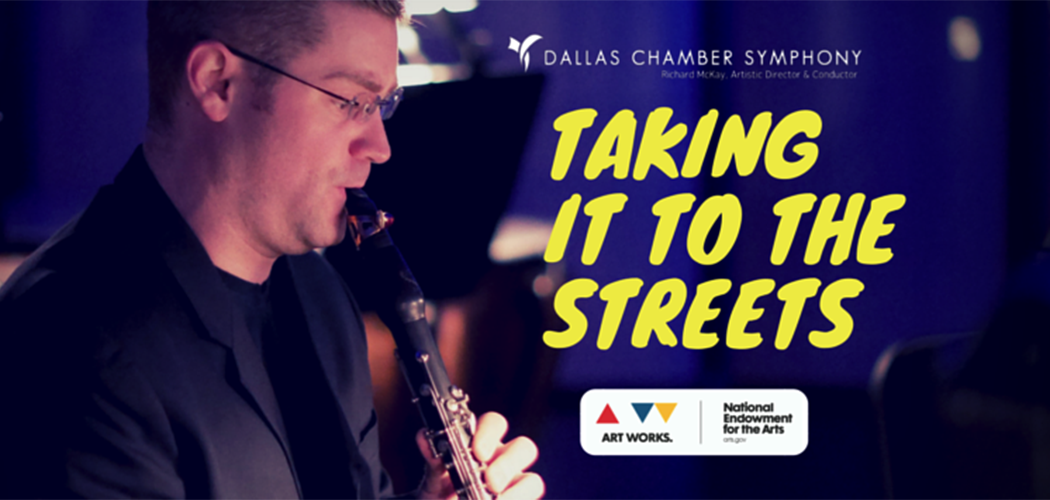"""Dallas Chamber Symphony's """"Taking it to the Streets"""" campaign helps neighbors connect with live music downtown, utilizing rapid transit, and to bring music to underserved people in locations like Parkland Hospital."""