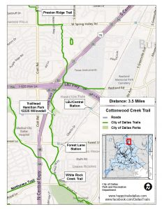 Cottonwood Creek Trail (Map courtesy of the City of Dallas at happytrailsdallas.com/trail-maps)