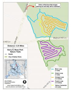 Harry S Moss Trails (Map courtesy of the City of Dallas at happytrailsdallas.com/trail-maps)