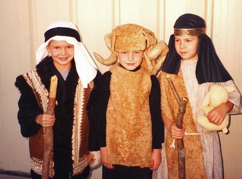 James Lonergan, Mac McCann and Caleb McCoy in their Kindergarten nativity play