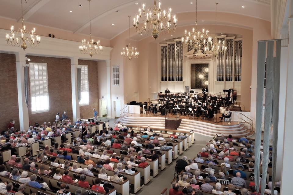 A Celebrate America concert at Wilshire Baptist Church in the White Rock Lake area of Dallas