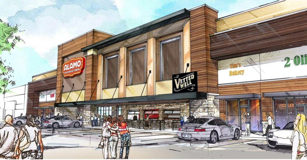 Retail Plaza, Inc.'s center at Skillman-Abrams will be anchored by the new Alamo Drafthouse