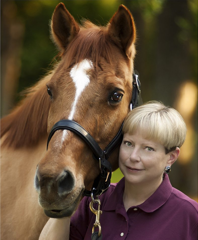 Lynne Roberts and her horse, Taz
