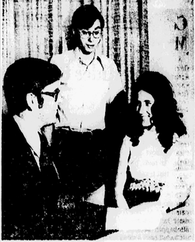Richland Community College enrolled its first two students, Dave McPeek and Kathy Carnathan, in April 1972.