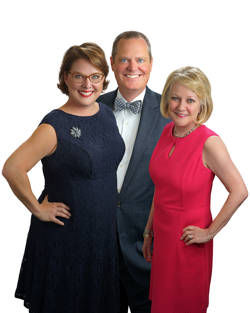 Elizabeth and Doug Selzer and Jan Stell — The Selzer & Stell Real Estate group.