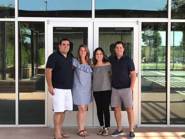 Play Street Museum owners Jerry and Casey Abbruzzese of Lakewood and Val and David Lackey of Lake Highlands.