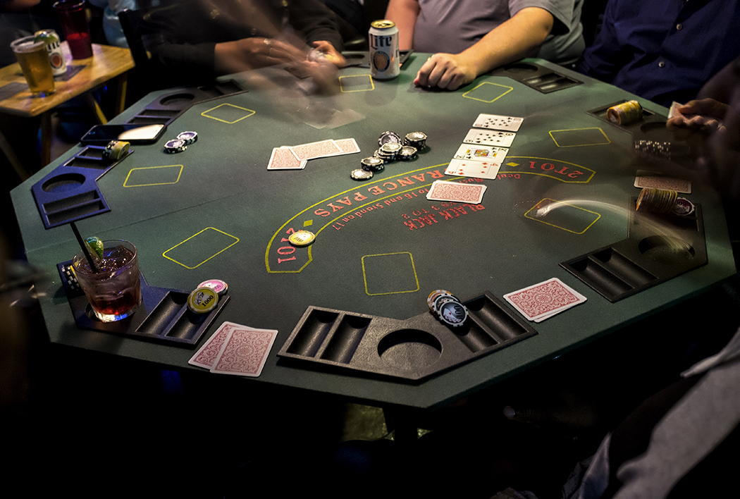 Poker players flock to Go 4 It Sports Grill every Tuesday through Thursday. (Photo by Danny Fulgencio)