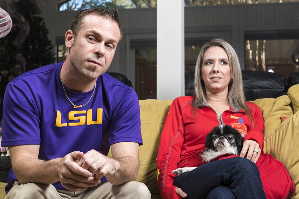Andre and Julie Lanaux's lives were changed after a home invasion shooting. (Photo by Danny Fulgencio)
