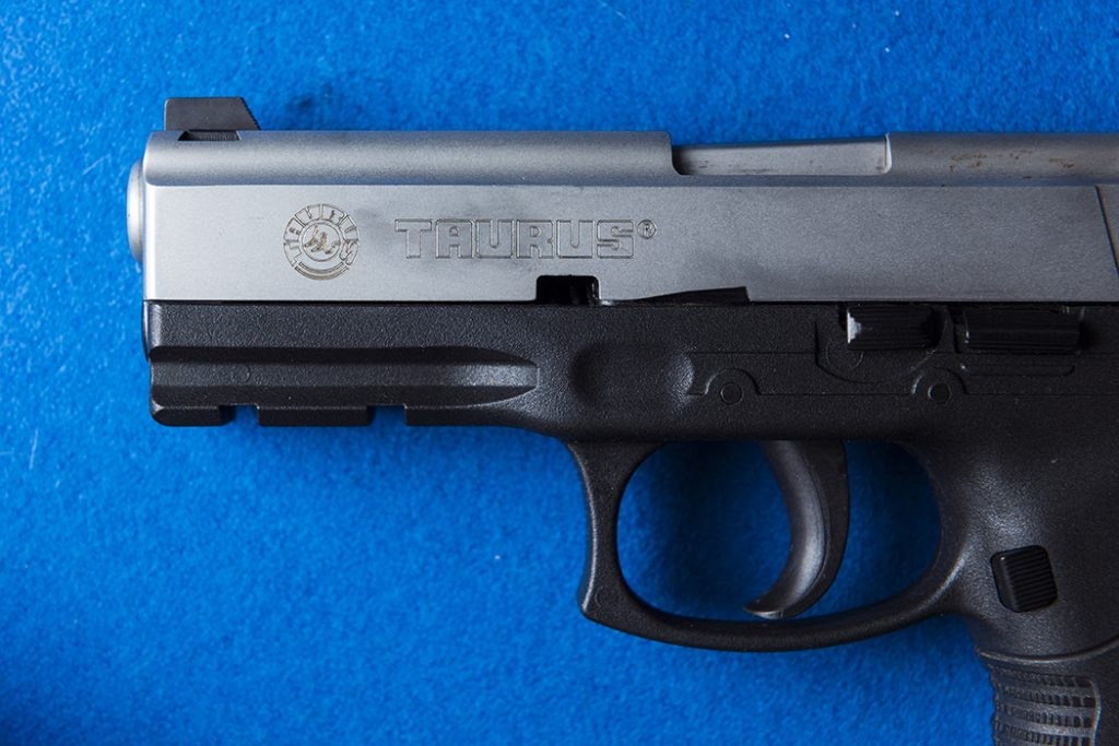 The actual handgun used in the incident. (Photo by Danny Fulgencio)