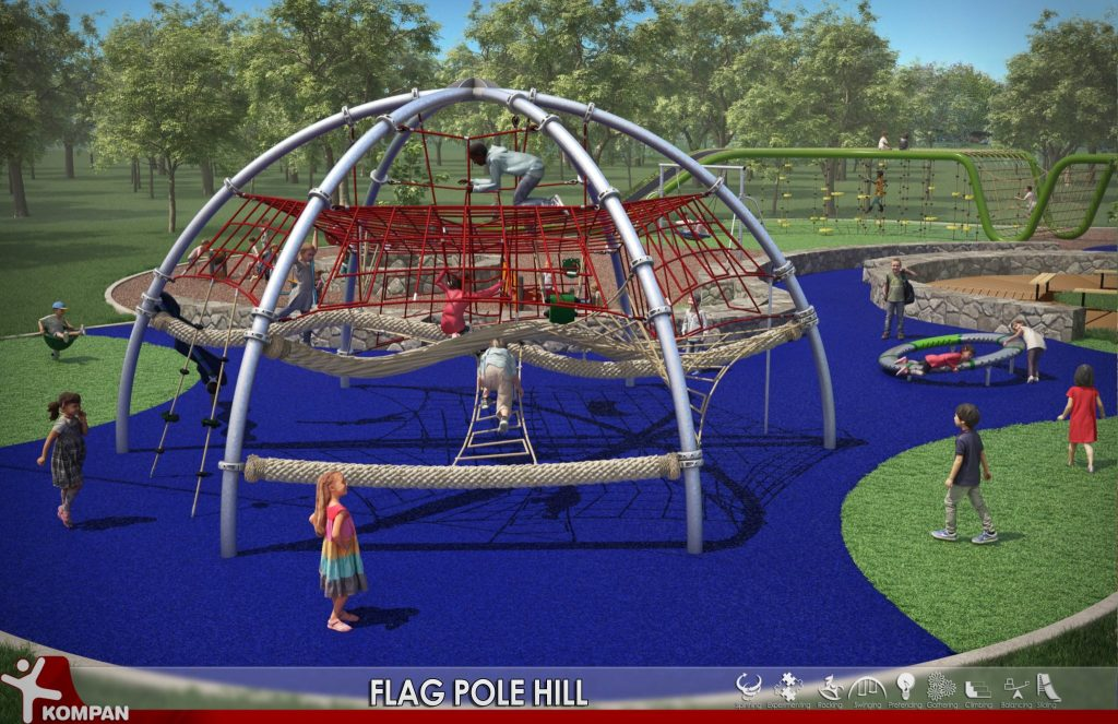 The all-ability playground planned for Flag Pole Hill.