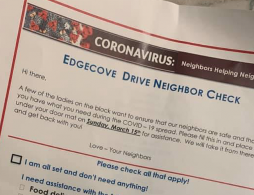 A group of moms created this Edgecove Drive neighborhood check to help elderly residents