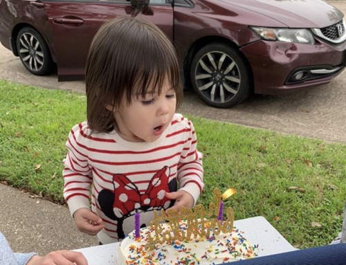 Postcard from the Pandemic: A 2-year-old's front yard birthday celebration