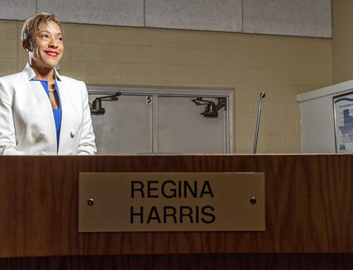 Regina Harris, the first Black woman on RISD's Board, is listening