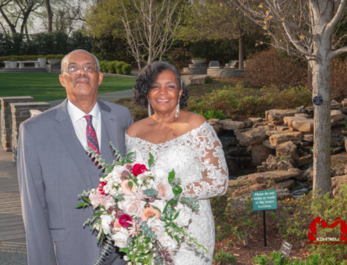Couple recovers from COVID just in time for dream wedding at the Arboretum