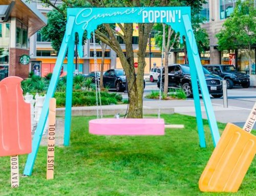 Life-size popsicle swing pop-up flies into our neighborhood