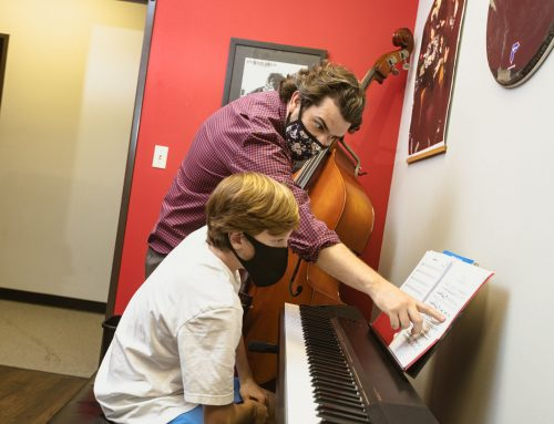 Neighbors ages 3-70 join the Lake Highlands School of Music to learn how to rock
