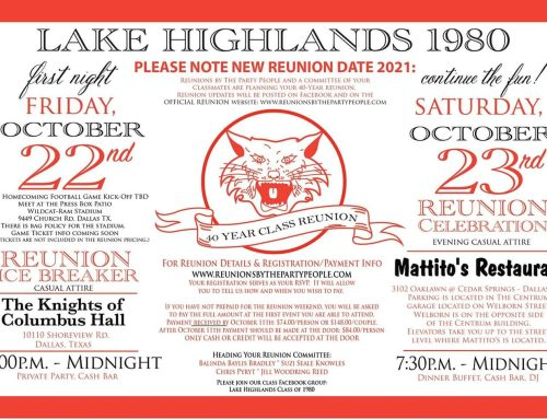 Lake Highlands Class of 1980 to host 40th reunion on new date