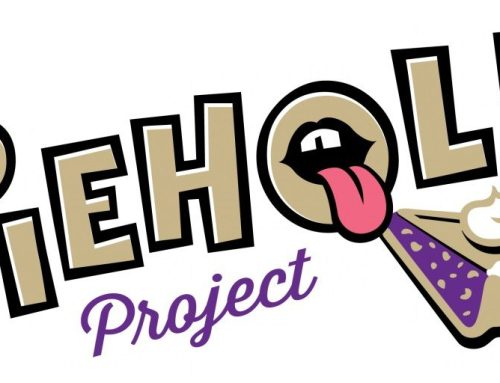 Brian Luscher participates in Piehole Project's auction and variety show